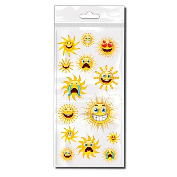 Comic Sonnen Set Fahrrad Sticker - Kategorie Shop