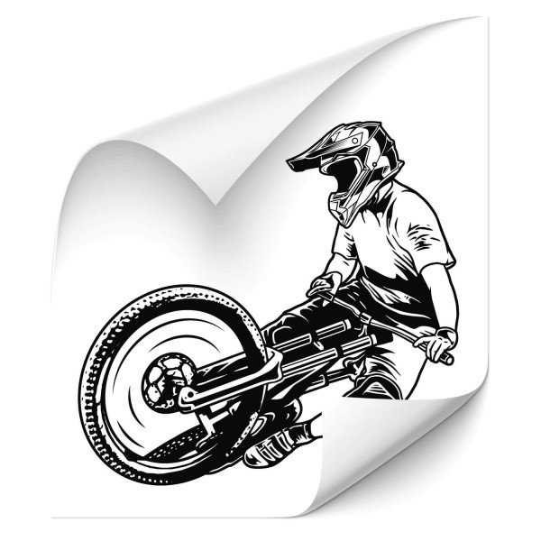 Downhill Biker Cartattoo - wandtattoo