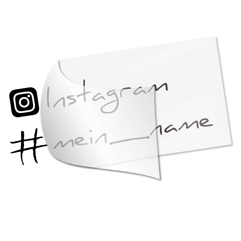 Instagram Namensaufkleber - Kategorie Shop