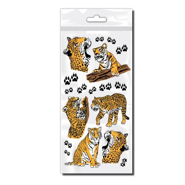 Fahrrad Aufkleber Set | Tiger | Leopard | Raubkatzen