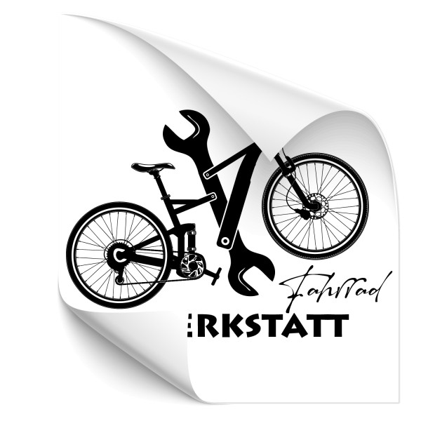Fahrradwerkstatt Sticker | Wall Art