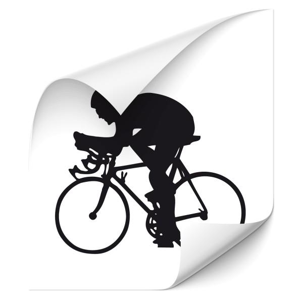 Motivaufkleber für Rennradler | Sticker