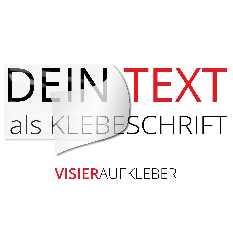 Wunschtext Visier Motorradhelmaufkleber - Kategorie Shop