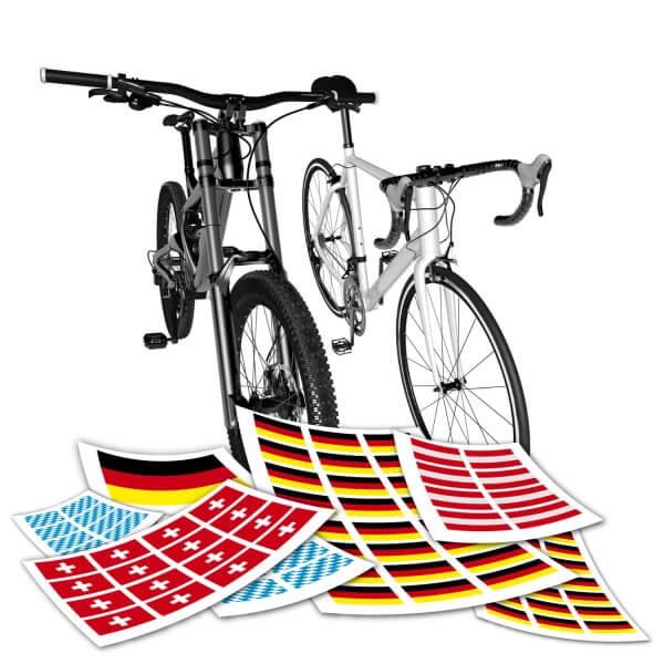 Fahrrad Flaggen Aufkleber