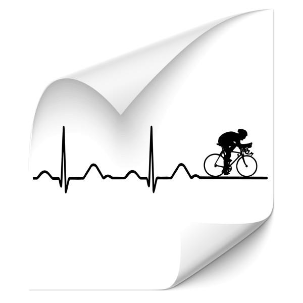 EKG Wandtattoo Radfahrer