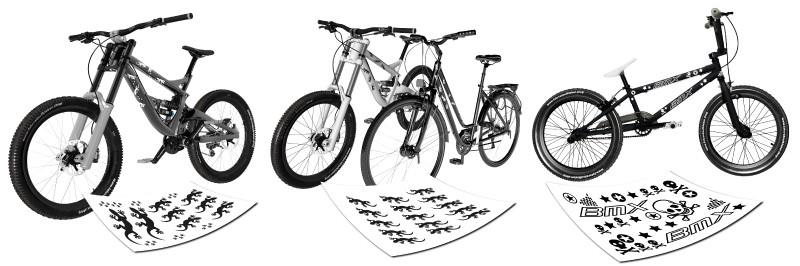 Eigener Name Rahmen Aufkleber Aufkleber Set Fahrrad Motivation