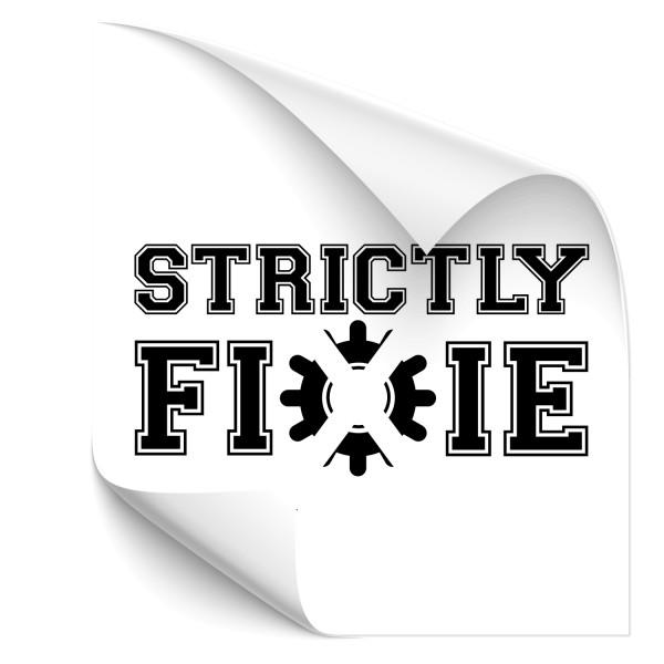 Strictly Fixie - Aufkleber