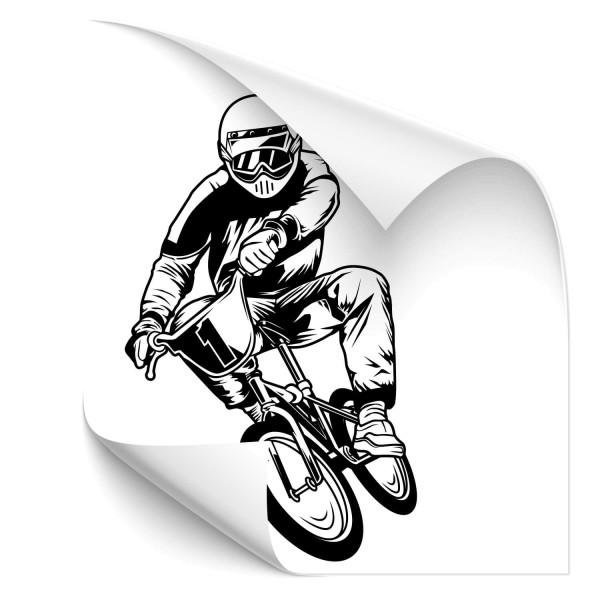 BMX Biker Fahrzeug Aufkleber - wandtattoo