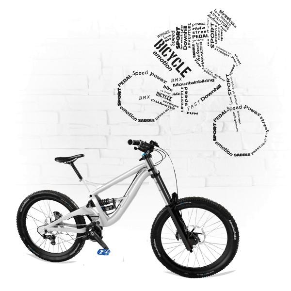 Wandtattoo   Wortwolke   Bicycle