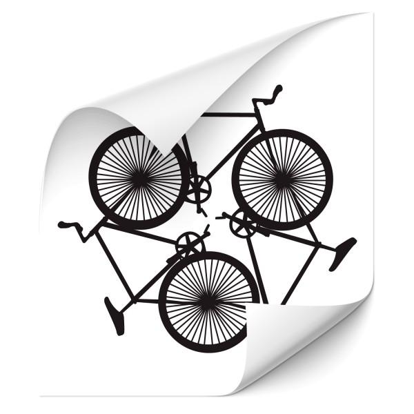 Bike Circle Wandtattoo