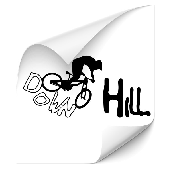 Downhill Race Biker Tattoo