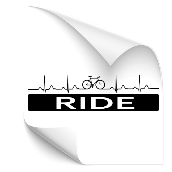RIDE EKG Wandtattoo Bike
