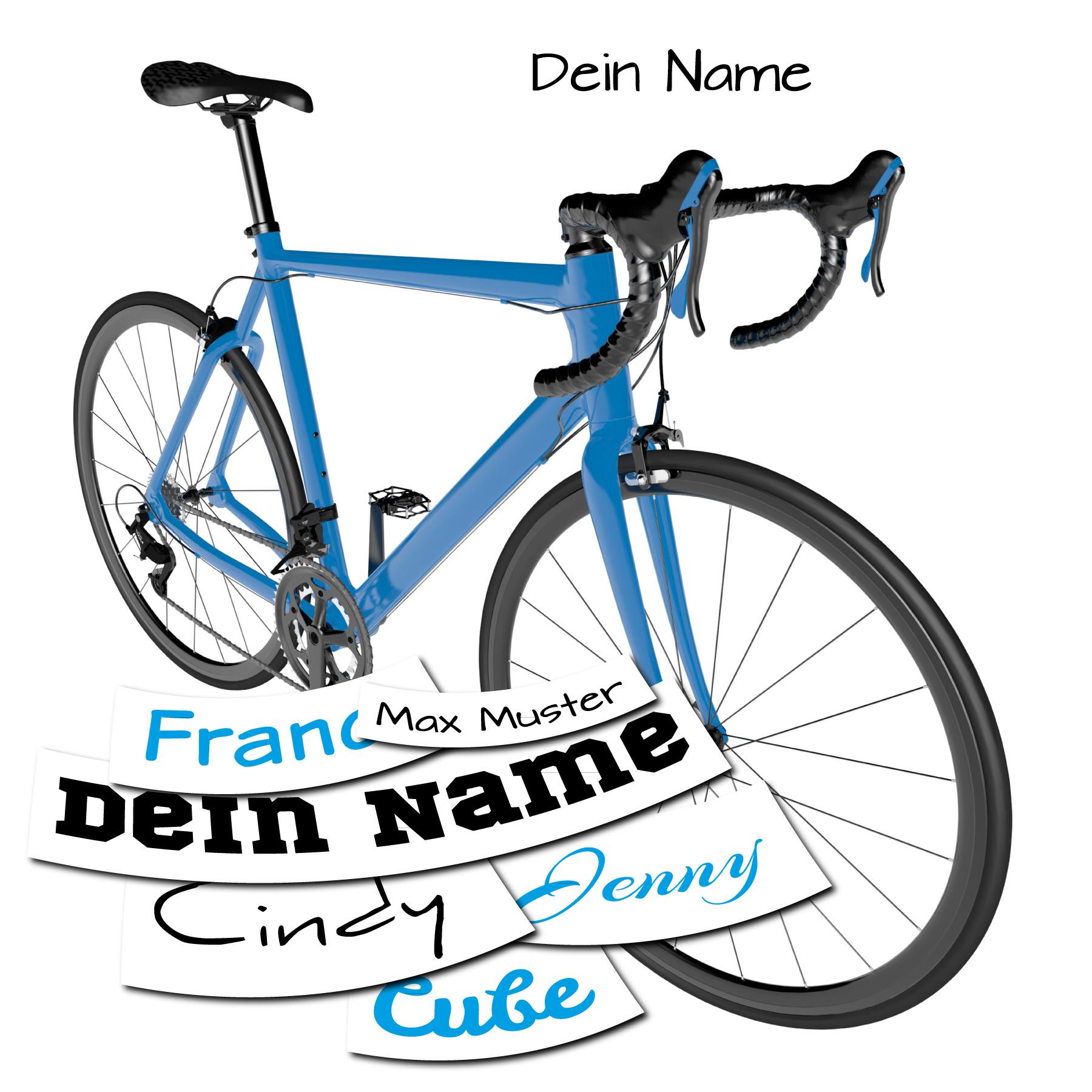 Name Wunschname Fahrrad Bike Car Aufkleber Autoaufkleber