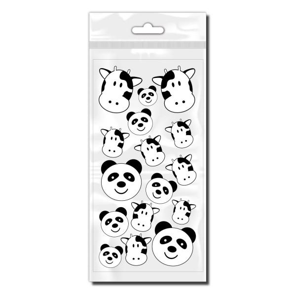 Panda und Kuh Aufkleber