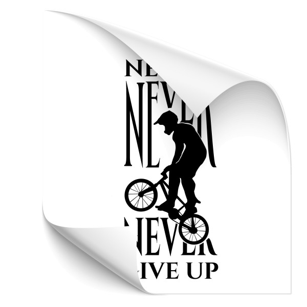 Never give up | Wandtattoo