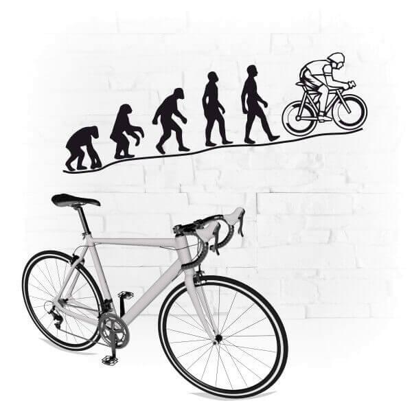 Evolution Triathlet Wandtattoo