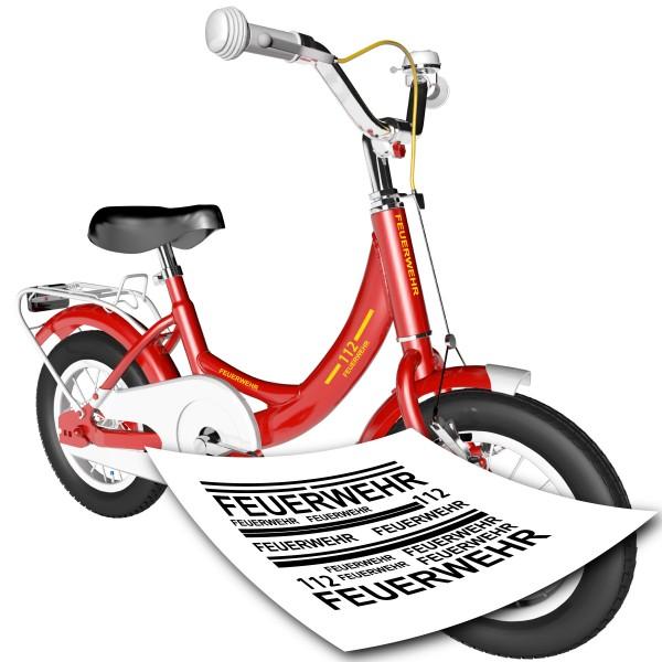 Feuerwehr Fahrrad Sticker Set