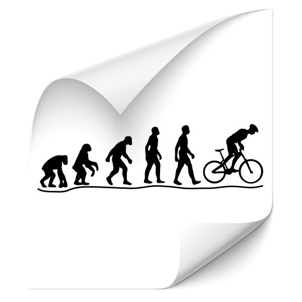 Evolution Radfahrer Tattoo