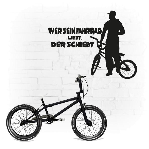 Wer sein Fahrrad liebt, der schiebt | Wandsticker