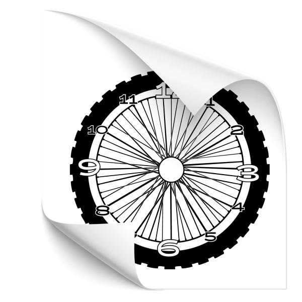 Wanduhr Reifen Aufkleber