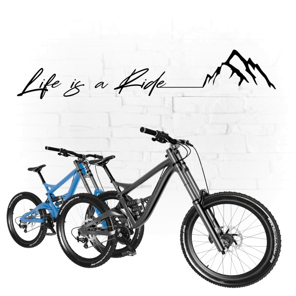 Life is a Ride | Wall Art | Wandtattoo | Bicycle