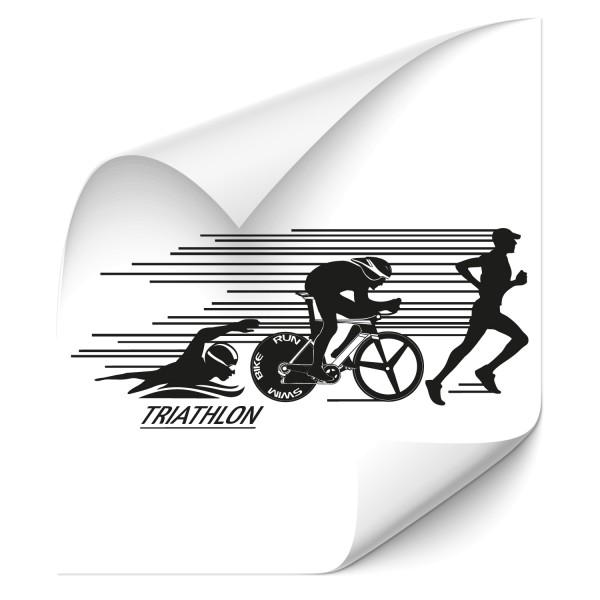 Dynamic Triathlon Wandtattoo