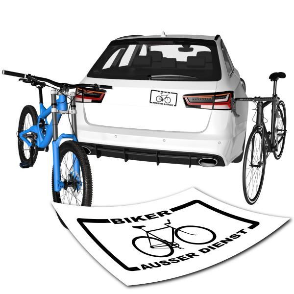Autoaufkleber Biker ausser Dienst
