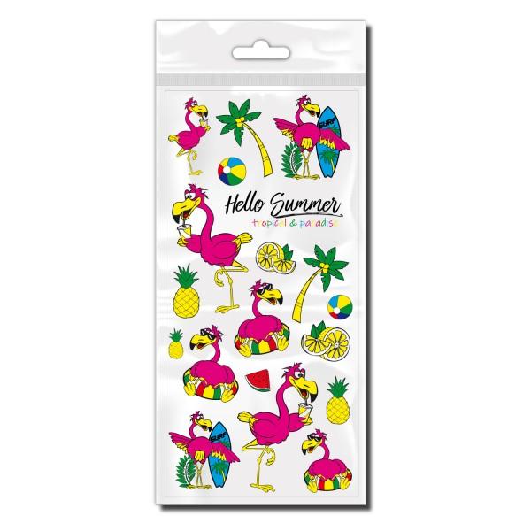 Flamingo Fahrradaufkleber