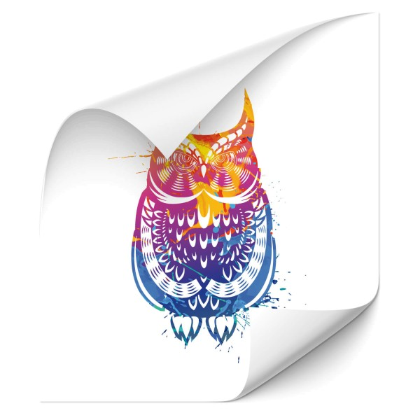 Eulen Motiv Autofolienaufkleber - Adler & weitere Vögel