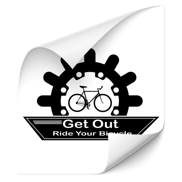 Get out - ride your bicycle Wandtattoo