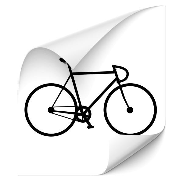Bahnrad Motiv Aufkleber