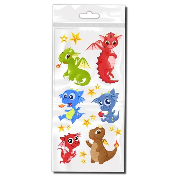 Baby Drachen Set Rahmen Aufkleber - Kategorie Shop