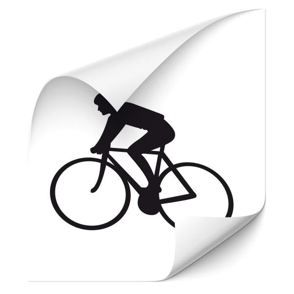 Motivaufkleber Rennfahrer Sticker