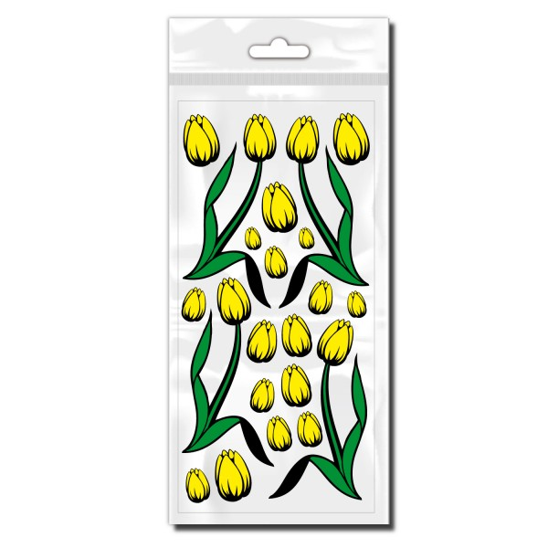 Fahrradaufkleber Tulpen