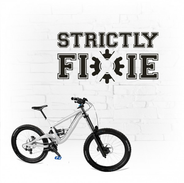 Strictly Fixie - Aufkleber