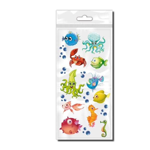 Stickerbogen Sea Animals