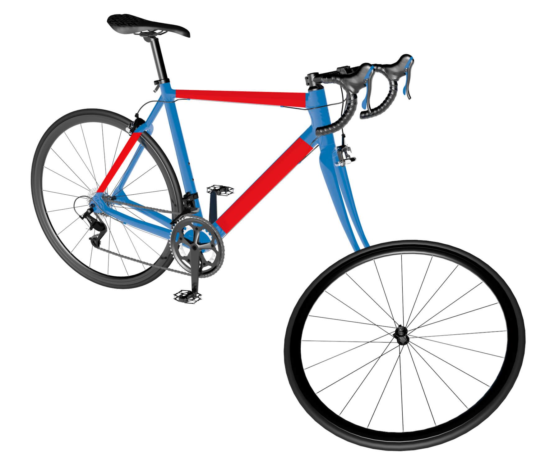 Fahrrad Rohre Folieren