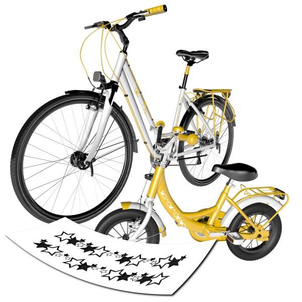 Sternen Bordüre für das Fahrrad