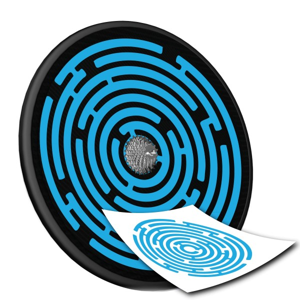 Scheibenrad Decal - Labyrinth -