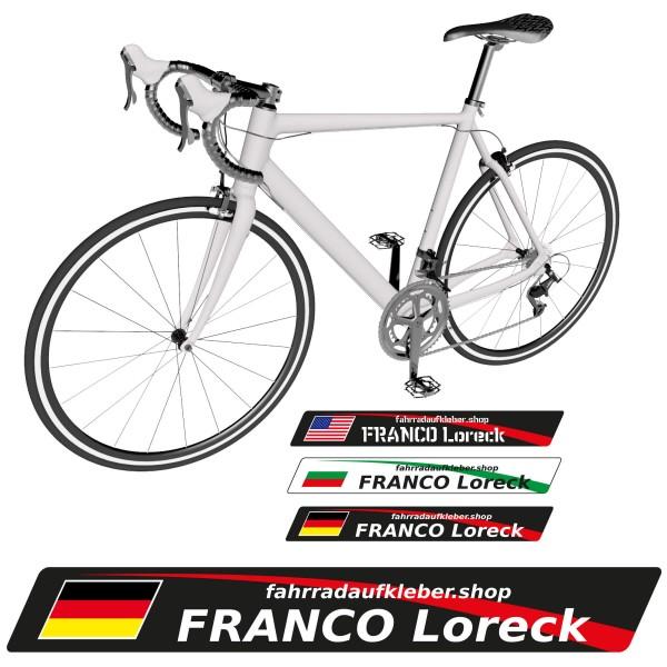 Name Aufkleber Fahrrad