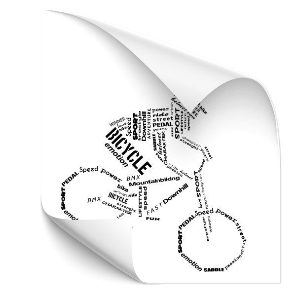 Wandtattoo | Wortwolke | Bicycle