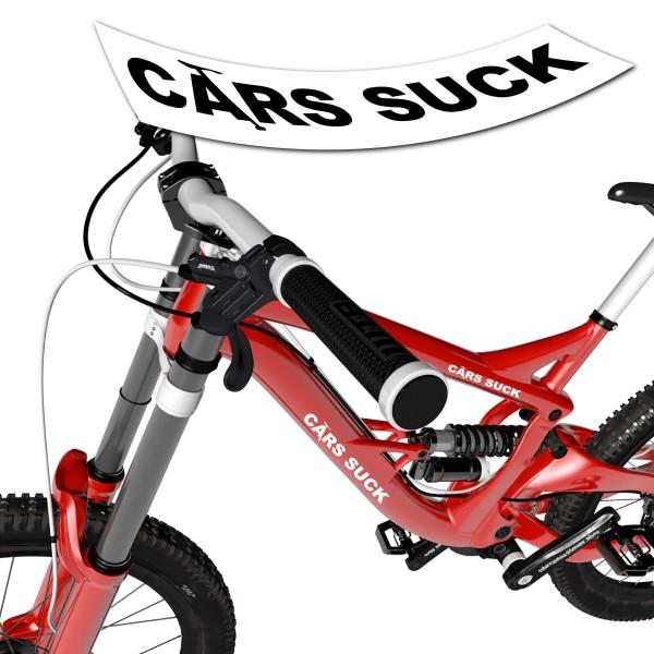 Schriftzug - Cars Suck - Sticker