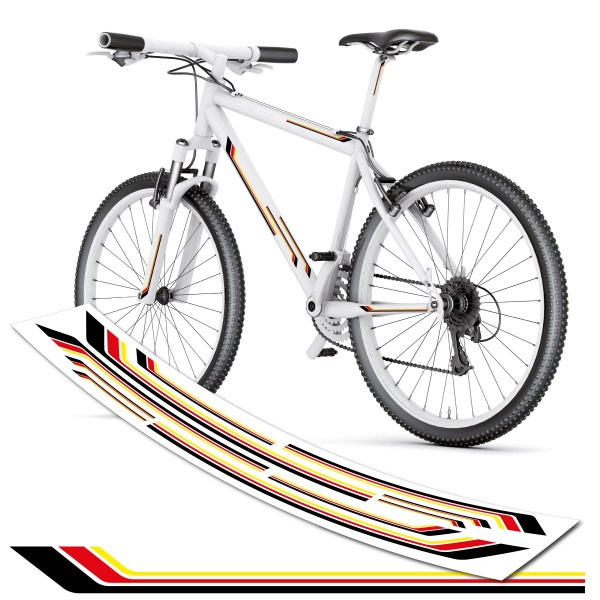 Fahrradaufkleber Deutschland Design Streifen