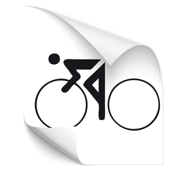 Motivaufkleber Rennradfahrer Sticker Piktogramm