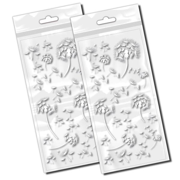 Pusteblumen Aufkleber Fahrrad Sticker weiß Dandelion