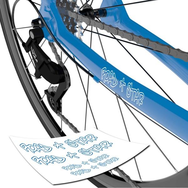 Road Star Sticker Fahrrad