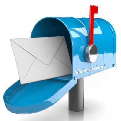 Namensaufkleber für Briefkasten