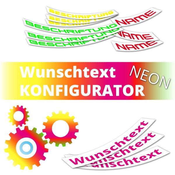 Wunschtext Neon Beschriftung
