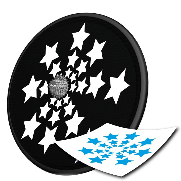 Scheibenrad Decal - Big Stars -