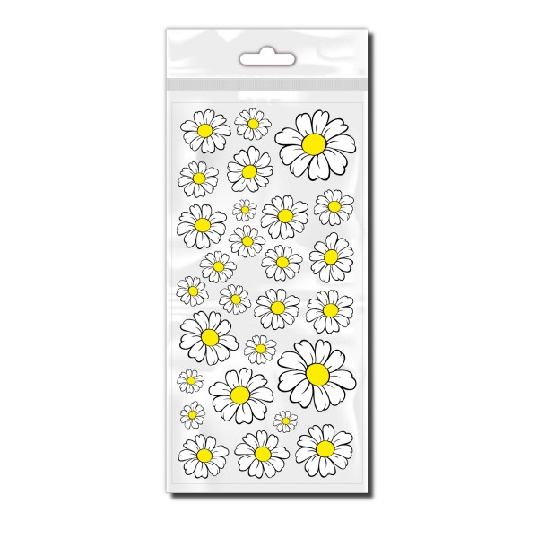 Blumen Fahrradaufkleber mit Gänseblümchen